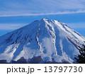 冬山 山 富士山の写真 13797730