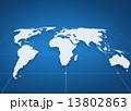 world map projection over blue background 13802863