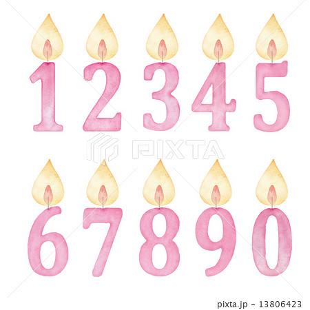 すべての講義 4歳 数字 : numeral Illustrations - PIXTA