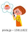 電話相談 相談 お母さんのイラスト 13811822