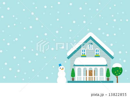 雪 家 積雪 冬のイラスト素材 13822855 Pixta