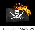 燃える 海賊 旗の写真 13823729