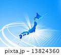 ネットワーク 日本列島 ビジネスのイラスト 13824360