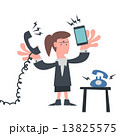 Busy Business woman with Telephone 13825575