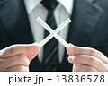 ビジネスマン 男性 禁煙の写真 13836578