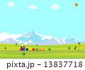 蒸気機関車 機関車 汽車のイラスト 13837718