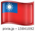台湾 旗 フラッグのイラスト 13841092