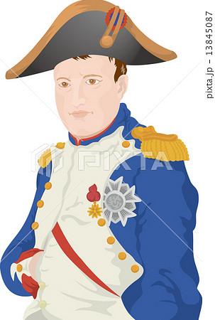 ナポレオン 皇帝 英雄 偉人 歴史上の人物 イラスト 肖像のイラスト素材