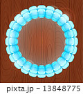 Light Blue Bubble in Round Frame 13848775