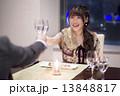 ディナー 女性 乾杯の写真 13848817