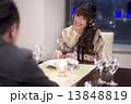 ディナー 夕食 女性の写真 13848819