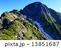 山岳 稜線 登山者の写真 13851687