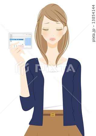 運転免許証を持つ女性 ショック 13854144
