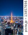 オフィス街 夜景 東京の写真 13857698