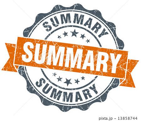 summary vintage orange seal isolated on white 13858744