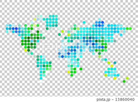 Blue and green abstract world map with dot pattern vector blue and green abstract world map with dot pattern vector illustration gumiabroncs Gallery