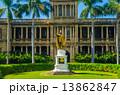 ハワイのカメハメハ大王像 13862847