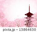 桜 京都 背景 13864630