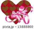 ハートの中のハートのチョコレート 13888860