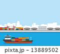 貨物船 コンテナ コンテナ船 13889502