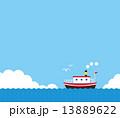夏 船 青空 13889622