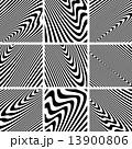 Set of textures in zebra pattern design. 13900806