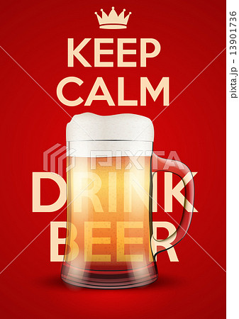 Vector Illustration Keep Calm And Drink Beerのイラスト素材 [13901736] - PIXTA