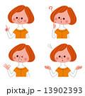 女性 表情 セット 13902393