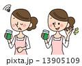 主婦 野菜ジュース スムージーのイラスト 13905109