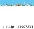 建物 空 雲 街 虹 風船 13907834