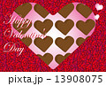 ハートのチョコレートのバレンタインカード 13908075