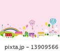 街 家 気球 星 虹 13909566