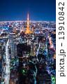 オフィス街 夜景 東京の写真 13910842