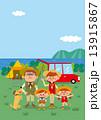 キャンプ ファミリーとペット 13915867