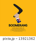 Hand Holding A Boomerang. 13921362