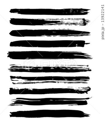 Vector set of grunge brush strokes. 13922141