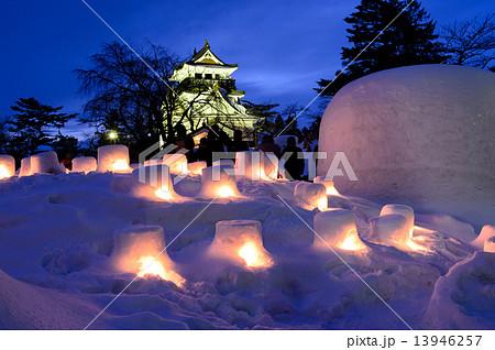 かまくら祭り 秋田県横手市 13946257