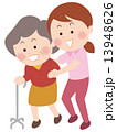 歩行訓練 介護 介護士のイラスト 13948626