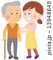 歩行訓練 介護 介護士のイラスト 13948649
