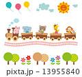 子供向け素材 汽車に乗る動物たち 13955840