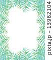 椰子の葉 椰子 ヤシ 緑の葉 熱帯 トロピカル 暑い ハワイ 沖縄 バリ バリ島 リゾート 風 爽やか 自然 空 旅行 夏 木 夏休み 休暇 熱帯性 パーム 背景 フレーム 枠 壁紙 バッ 13962104
