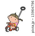 三輪車に乗った女の子 13964796