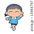 元気な男の子の幼稚園児 13964797