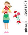 母の日 お母さん カーネーションのイラスト 13964803