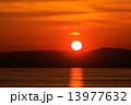 夕刻 夕焼け 夕日の写真 13977632