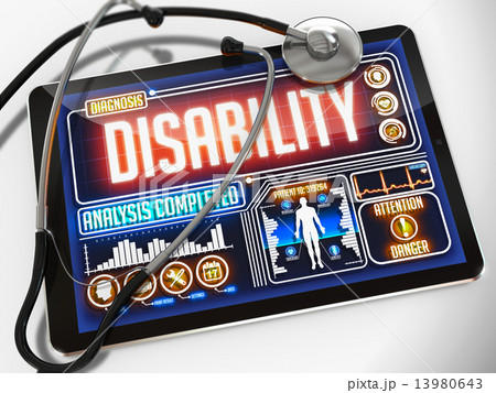 Disability on the Display of Medical Tablet. 13980643