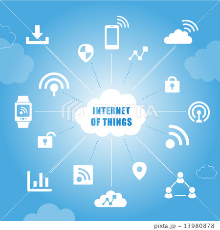 Internet of things concept 13980878