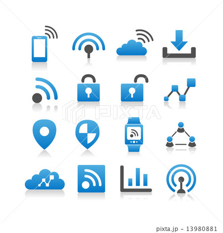 Internet of things icon 13980881
