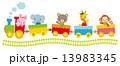 子供向け素材 汽車にのる動物たち 13983345