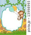さる 風船 気球のイラスト 13998993